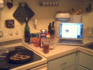 PowerBook for recipe, beer for motivation.